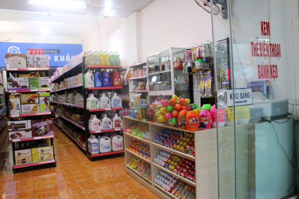Cách trưng bày hàng hóa tại siêu thị ở Điện Biên