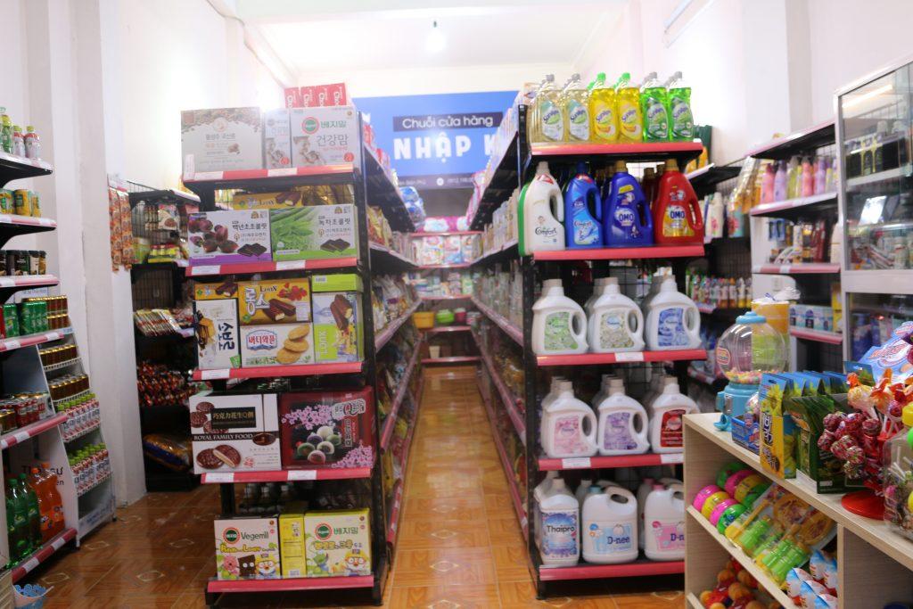 Gian hàng tại siêu thị mini Điện Biên
