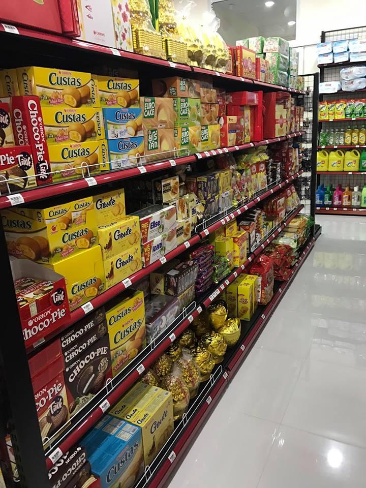 setup hàng hóa tại siêu thị Hân An