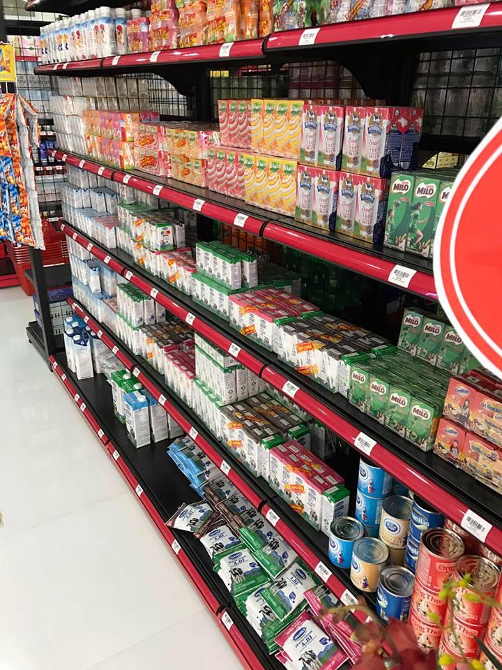 Cách bày hàng hóa tại siêu thị Hân An