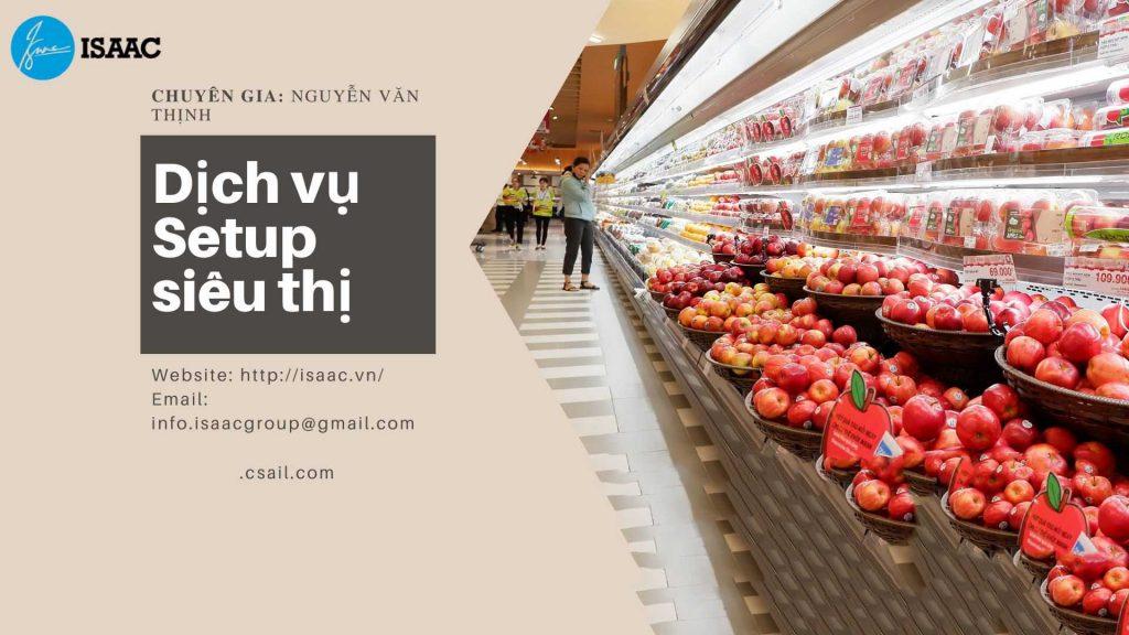 Dịch vụ setup siêu thị, cửa hàng tạp hóa
