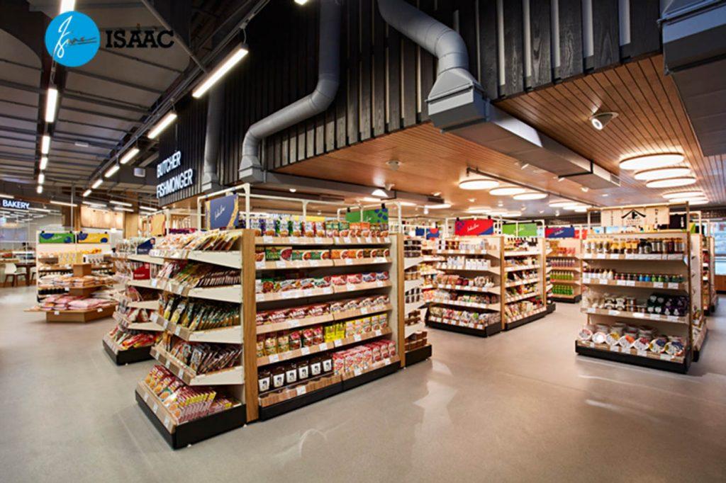 Trang trí siêu thị hiện đại