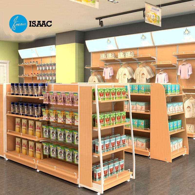Kệ siêu thị gỗ