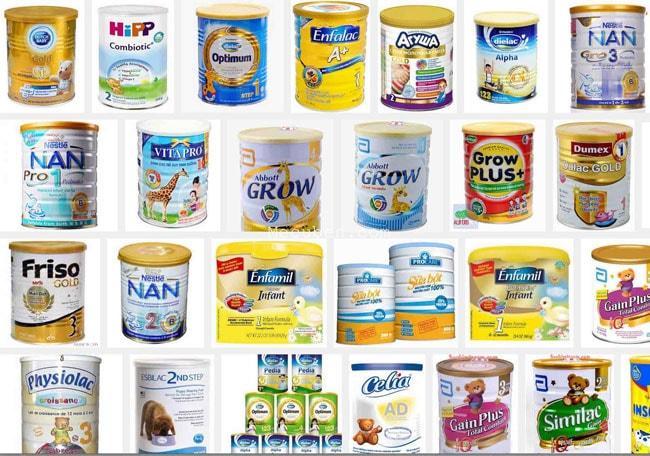 Danh sách các sản phẩm sữa bột Vinamilk phân phối