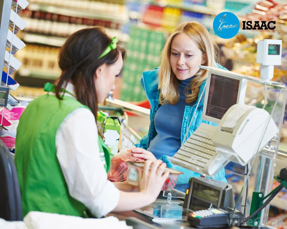 Thu ngân cửa hàng siêu thị