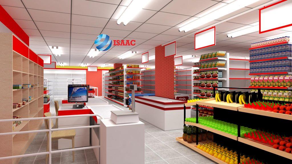 Thiết kế siêu thị mini là một phần hạng mục setup trọn gói