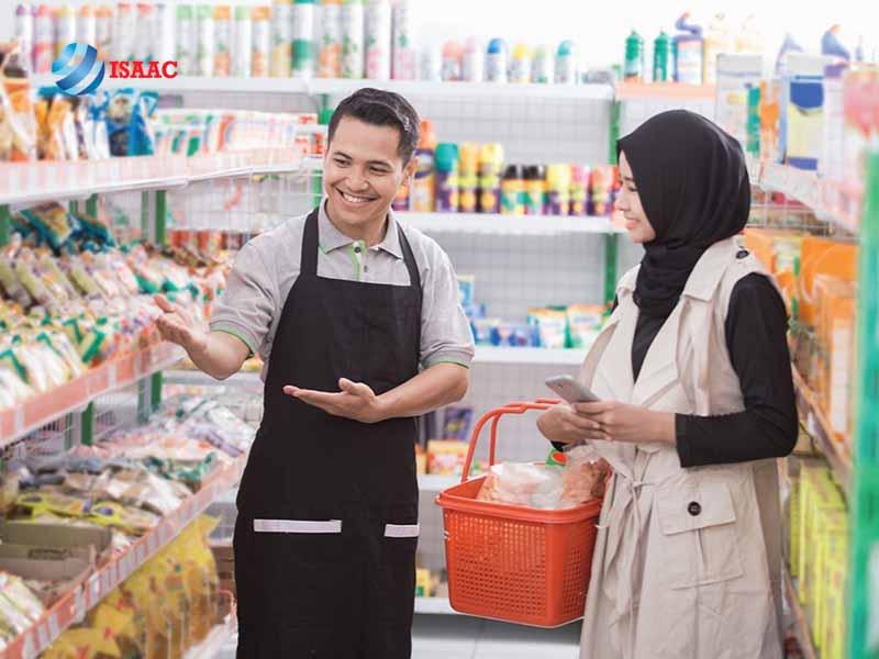 Công vụ làm việc của nhân viên siêu thị