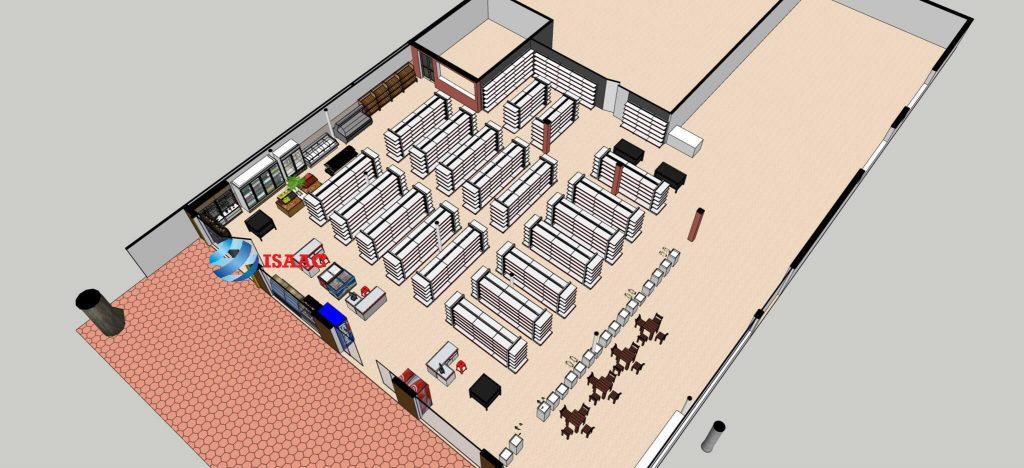 Thiết kế siêu thị tại Thái Nguyên