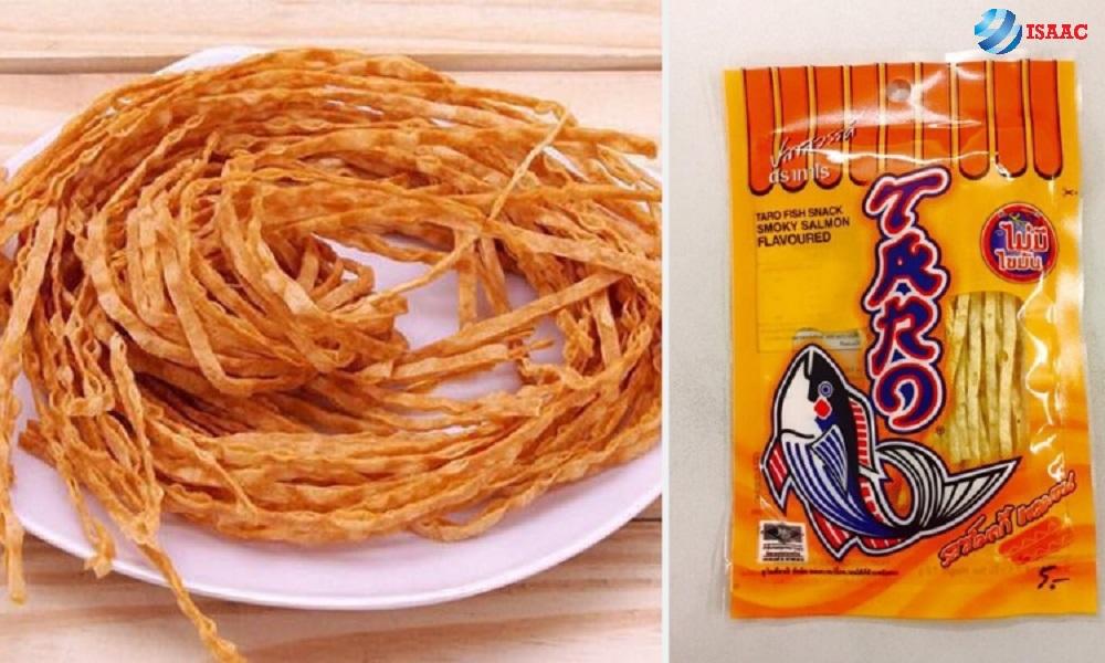 đồ ăn vặt thái lan cá khô taro